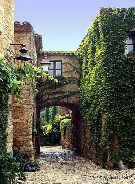 Peratallada Medieval town, Girona, Catalunya, Spain