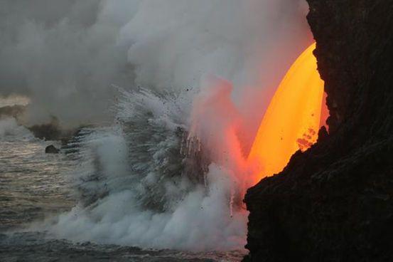 Kilauea, Hawaii This volcano has been erupting since the early 1980's.