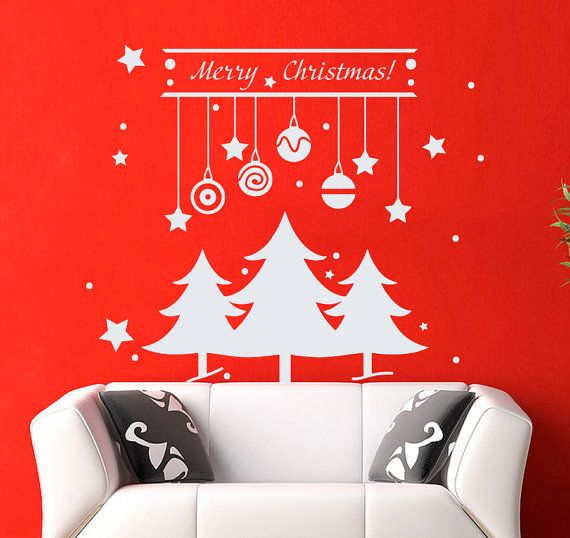 Best Christmas Decals Images On Pinterest Vinyls Wall Decals - Custom vinyl wall decals christmas