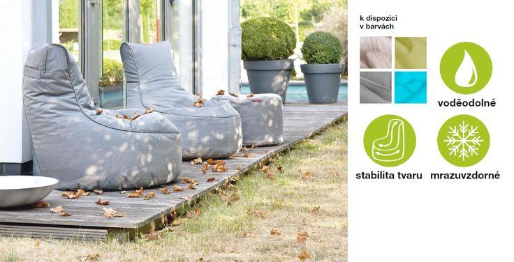 """venkovní sedací pytel """"OUTBAG""""  jednoduše geniální řešení sezení na zahradě či terase"""