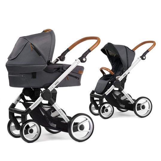Hochwertiger Kombi mit komfortabler Babywanne und umsetzbarer Sitzeinheit.