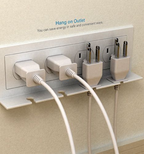 since your chargers and other appliances steal energy even when you're not using them, this little add-on reminds you to unplug them.: Good Ideas, Stuff, Outlets, House Idea, Design