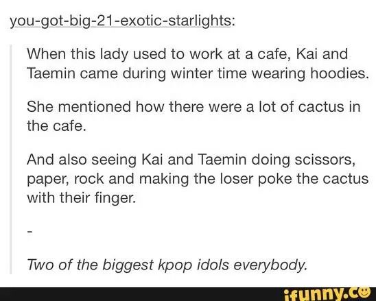kai and taemin everybody