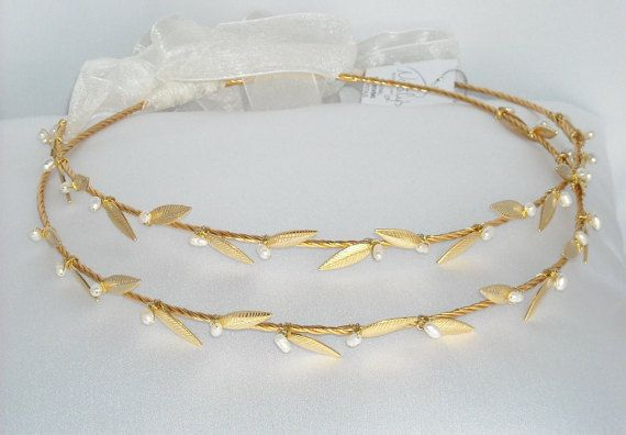 Greek Wedding Shop - Ancient Greek Style Gold Plated Stefana - Wedding Crowns. Wedding Crowns for your Greek Orthodox wedding ceremony (http://www.greekweddingshop.com/ancient-greek-style-gold-plated-stefana-wedding-crowns/)
