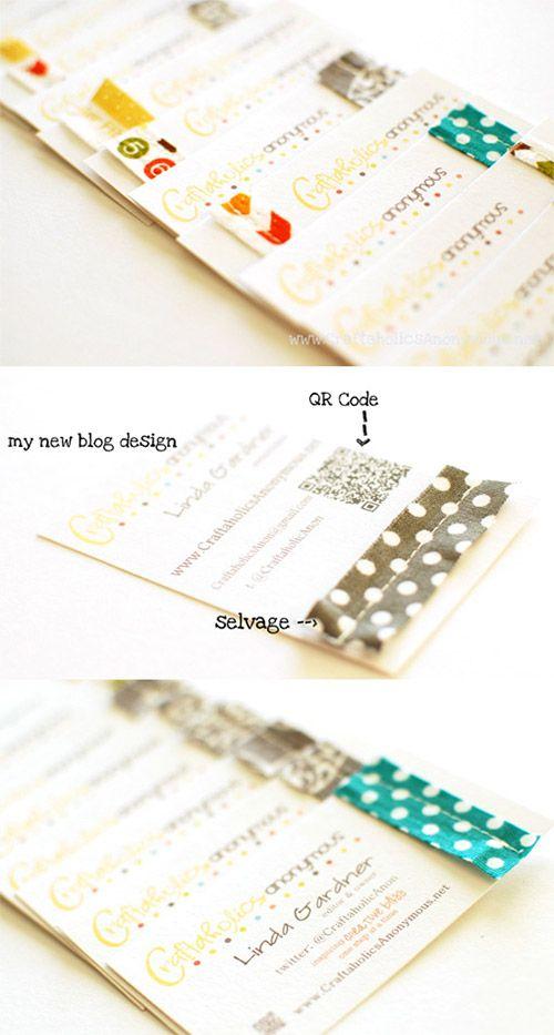 craft DIY business card