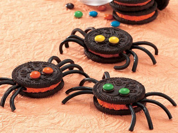 Spooky Spider Cookies- I have made these before. They turned out really cute and they are so easy to make!