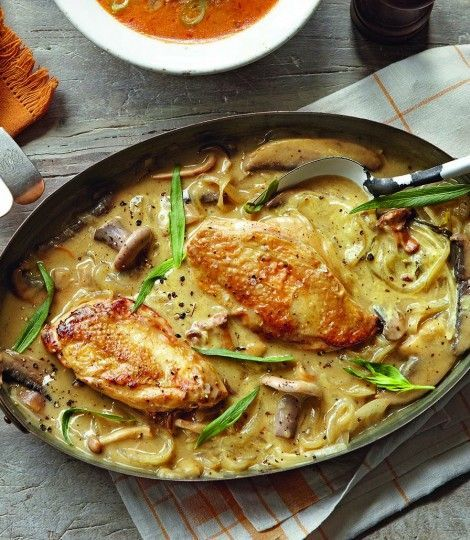This mustard chicken dish is great for an easy dinner party, serve with rice or simply a green salad