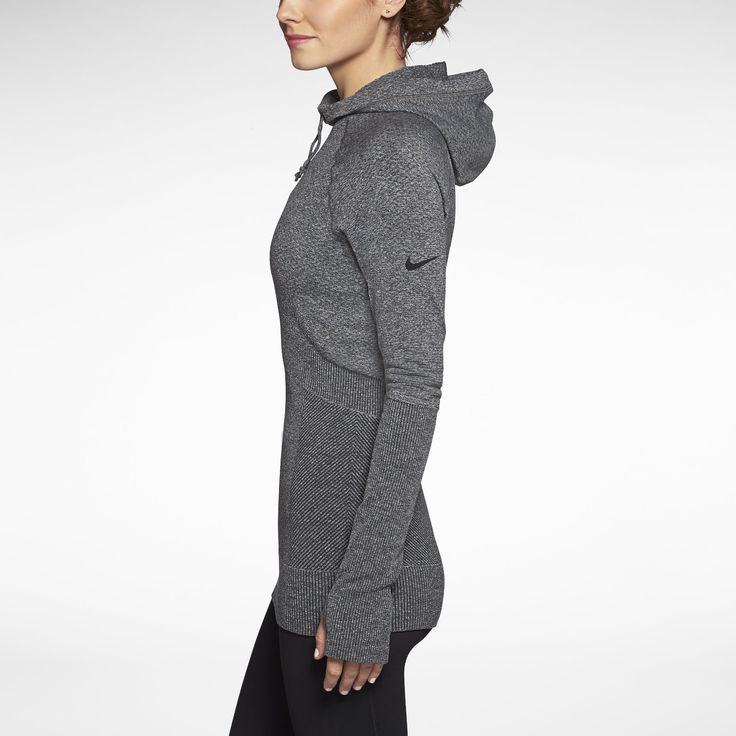 Nike Store. Nike Pro Hyperwarm Fitted Seamless Pullover Women's Hoodie