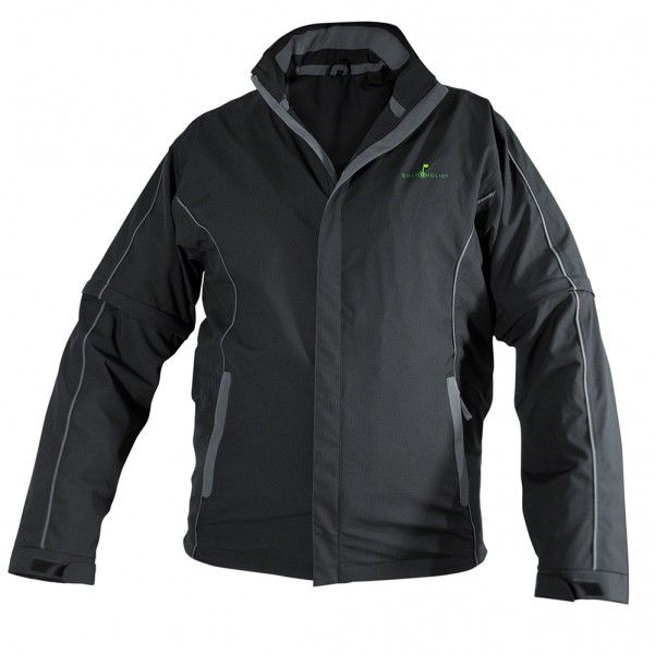 Flag 18 Regenanzug (Jacke und Hose) unisex Golfbekleidung - Regenkleidung auf höchstem Niveau, Raschelarmes Funktionsmaterial, Wasserfestigkeit 25.000 mm, Atmungsaktivität 12.000 g/qm/24h, Verschweißte Nähte, Abnehmbare Ärmel und Hosenbeine, 3 Taschen mit Eingriff zur Unterkleidung, Hosenbeine durch Druckknöpfe verkürzbar,