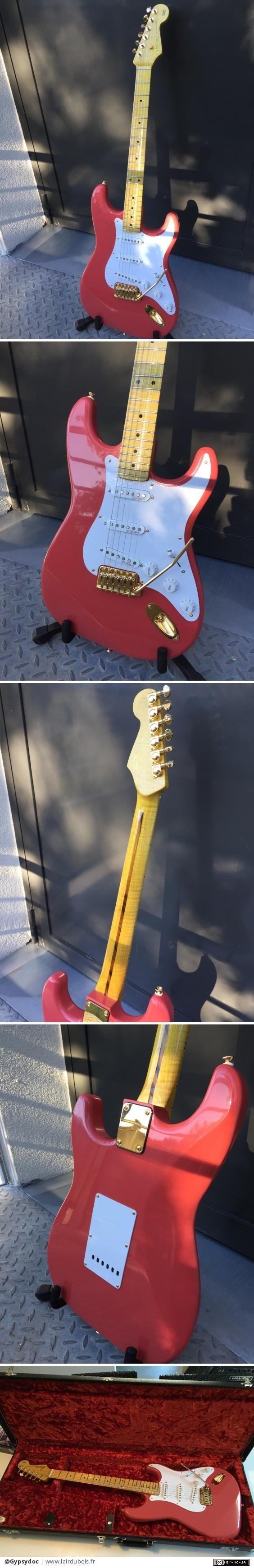 Ma deuxième Guitare: une stratocaster Hank Marvin par Gypsydoc - Pas encore revenu aux travaux d'ébénisterie, toujours dans la lutherie, je viens de terminer le cadeau de noël de mon Papa!!! Il s'agit d'une réplique de la stratocaster signature Hank Marvin, le mythique...