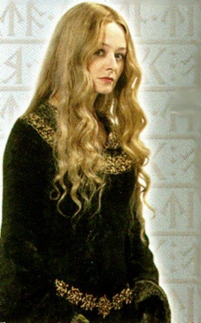 Miranda Otto as Eowyn in the Lord Of The Rings trilogy.