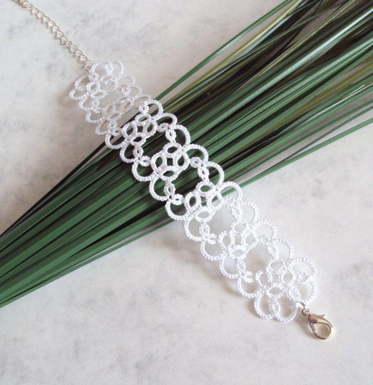 Bridal lace bracelet in tatting by Tatania Rosa on Etsy https://www.etsy.com/listing/123639413/wedding-lace-bracelet-in-tatting