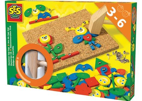 Hammer-It Shapes is a classic by SES.This edition offers new shapes and fresh colors for added fun. 3+ years