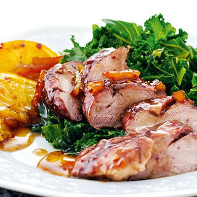 Roasted Duck Fillets with Marmalade and Chilli Glaze