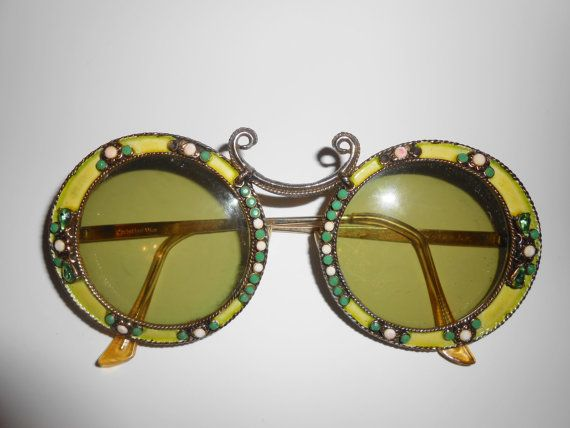1e9973a31039 Reserved for Gina Christian Dior Sunglasses Rare Jeweled Enamel Gold Filled