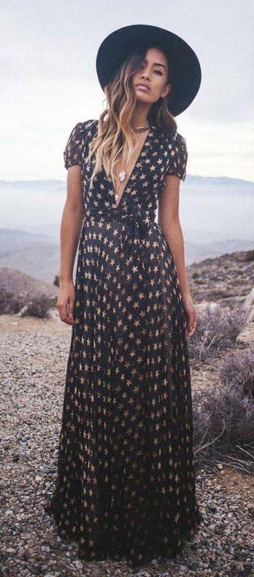 #boho #chic / fashion trends amazing polka dot maxi dress #BohoFashion