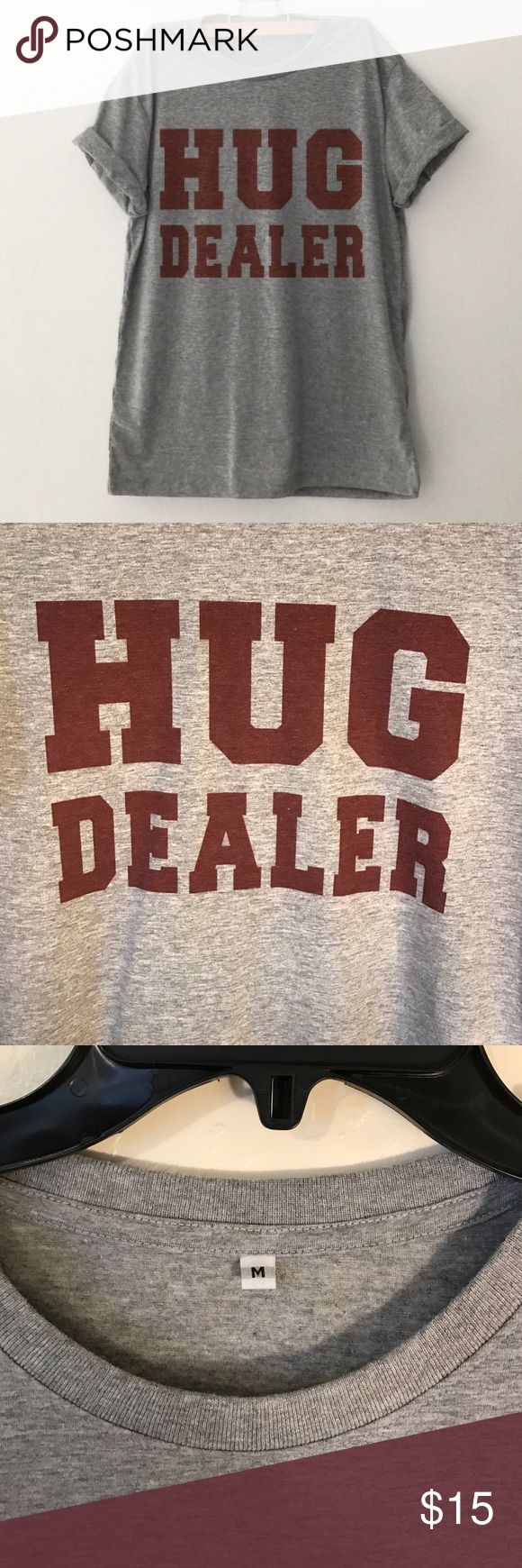 "Funny ""Hug Dealer"" T-shirt ➡️Funny ""Hug Dealer"" T-shirt ➡️Women's size medium ➡️Excellent condition  ➡️Super soft & comfortable NO TRADES Bundle discounts ❤️Reasonable offers only please❤️ Tops Tees - Short Sleeve"
