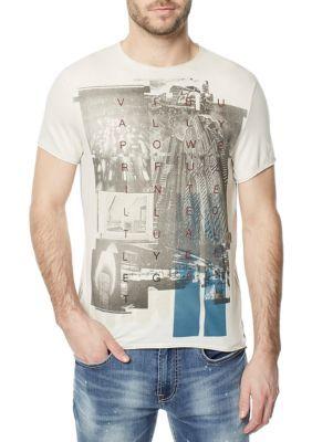 Buffalo David Bitton Men's Taison Tee Shirt - White - 2Xl