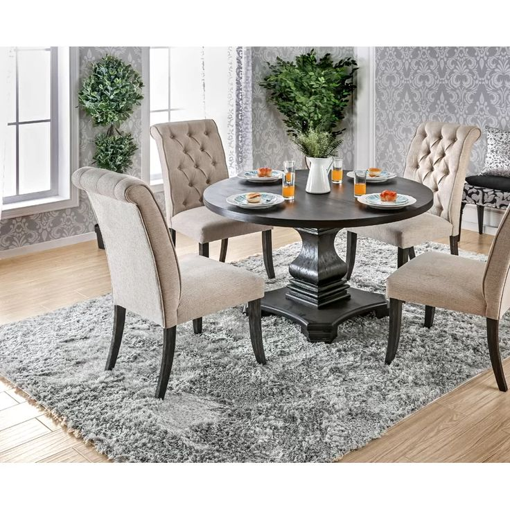 Arrieta 48 Pedestal Dining Table, One Way Furniture Reviews