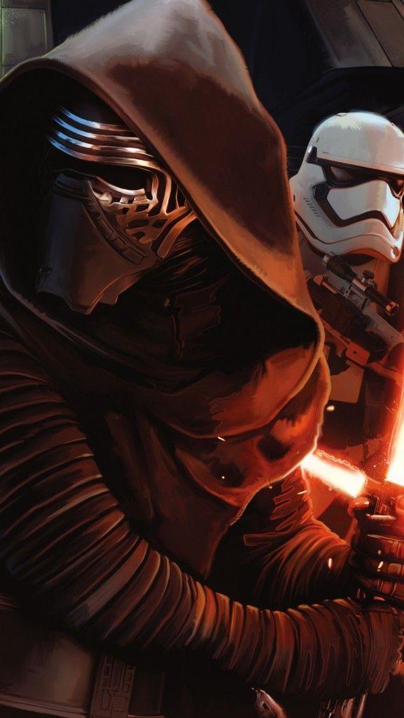 Star Wars The Force Awakens Wallpaper Kylo Ren Stormtrooper