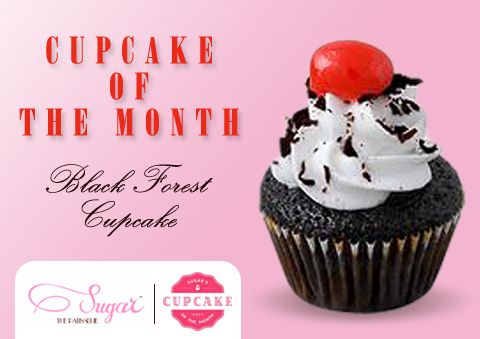 Back by Popular Demand! Our Black Forest Cupcake. Only the month of April, exclusively at Sugar The Patissetie. #sugarthepatisserie #cupcakeofthemonth #2016 #april #COTM #cupcake #blackforest #dessert #cupcakelove