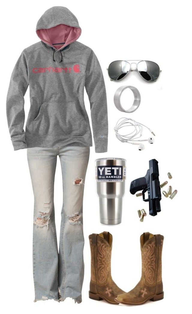 """""""Don't be fake """" by pistols-n-pearls ❤ liked on Polyvore featuring Free People, Carhartt, Edge Only and Tony Lama"""