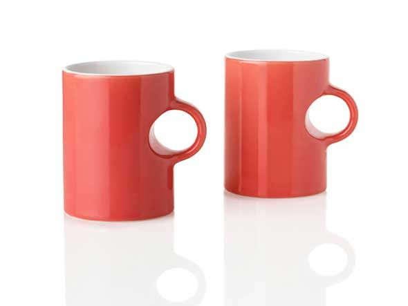 Circle coffee mugs by Stelton. Designed by Francis Cayouette