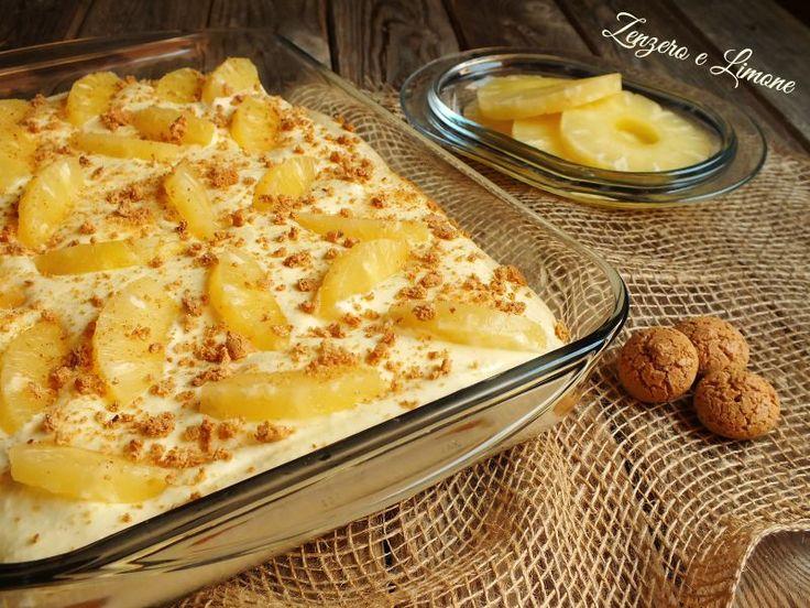 Il tiramisù all'ananas è un goloso dolce senza cottura che si prepara senza alcuna difficoltà e si conserva in frigorifero. Ottimo in tutte le stagioni!