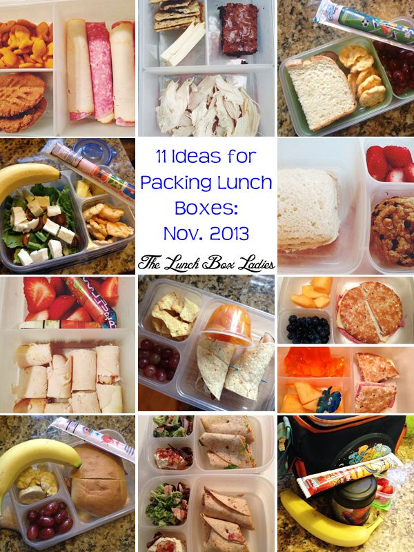 11 Ideas for Packing Lunch Boxes: November 2013 - The Lunch Box Ladies