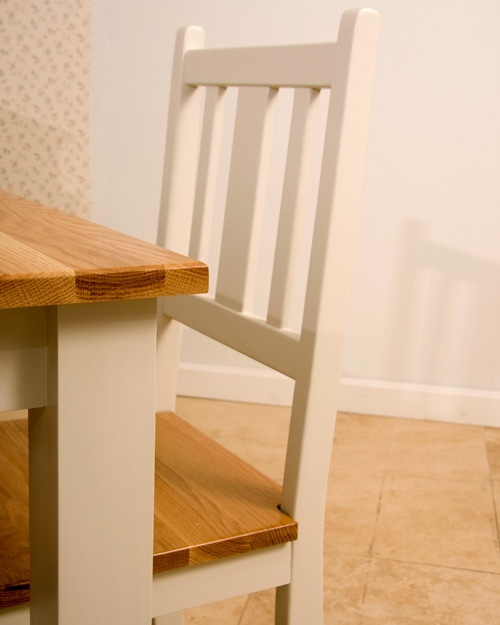 The Cove Dining Chair - Solid oak seat - legs and back clear pine available in a wide range of colours.