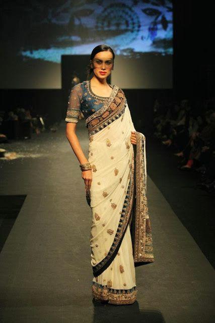 #RituKumar Cream #Designer #Saree