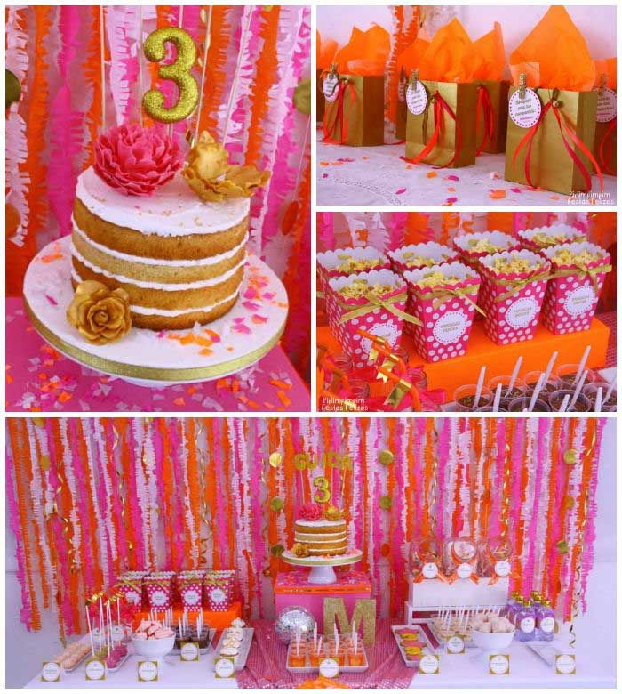 142 best Pink and Orange Theme party images on Pinterest Theme