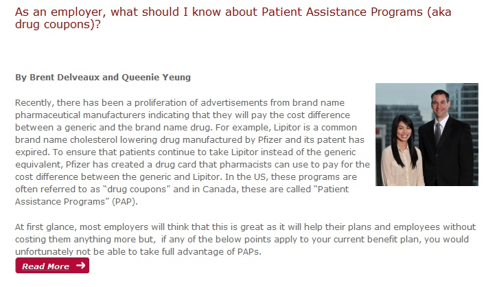 As an Employer - What should I know about Patient Assistance Programs?