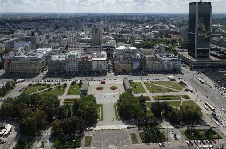 Widok na Warszawę z PKiN. Warszawa, Polska. Fot. Jan Gołąb