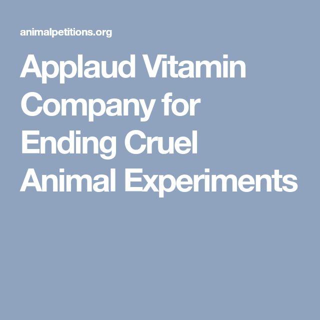 Applaud Vitamin Company for Ending Cruel Animal Experiments