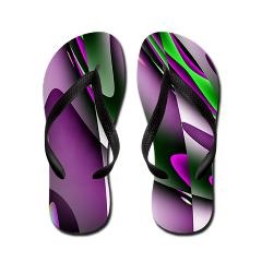Deep South Purple Abstract Flip Flops > Flip Flop Shop > The Art Studio by Mark Moore