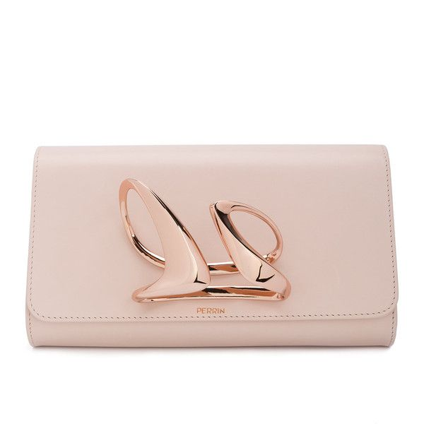 Perrin Paris x Zaha Hadid Mobi clutch (19.110 DKK) ❤ liked on Polyvore featuring bags, handbags, clutches, nude, nude clutches, pink clutches, clasp handbag, pink purse and nude handbags