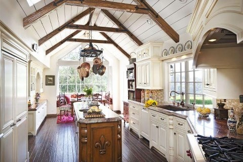 Wow...dream kitchen: Idea, Ceiling, French Country, Traditional Kitchen, Kitchen Design, Country Kitchens, Photo