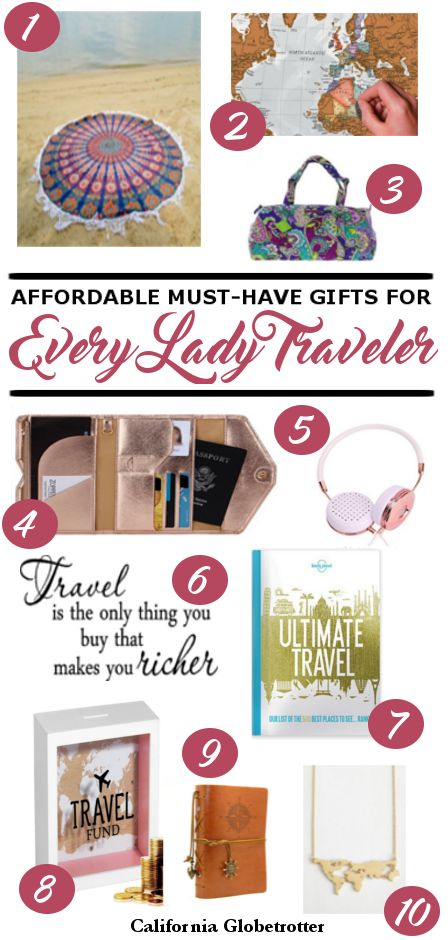 10 Must-Have Gifts Perfect for Every Female Traveler - California Globetrotter