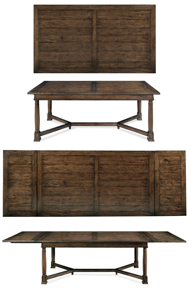 Bernhardt Vintage Patina Trestle Table 322 224 Tobacco