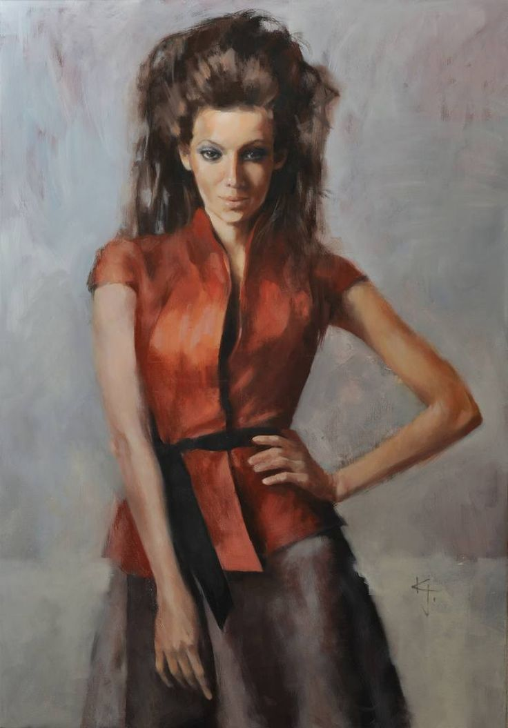 "Saatchi Art Artist Janos Zoltan Kovacs; Painting, ""Red"" #art"