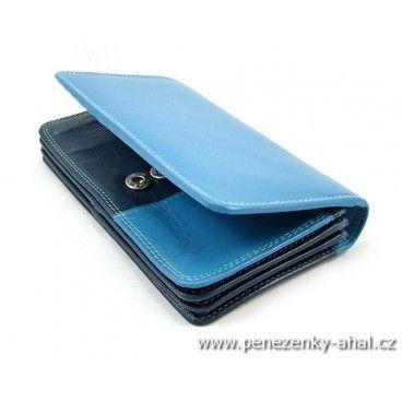 Stylová dámská peněženka modrá