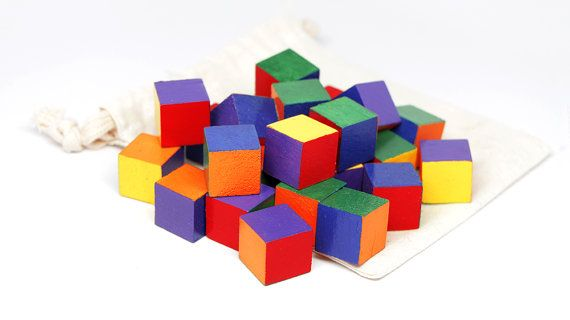 Colored Wooden Blocks / Wooden Colored by BeautifulLilMonsters