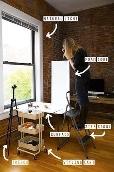 Wie baue ich ein Fotostudio für zuhause mit natürlichem Licht?