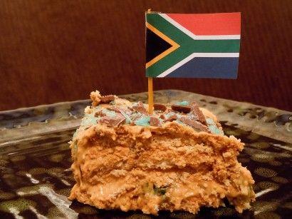 South African Peppermint Crisp Fridge Tart