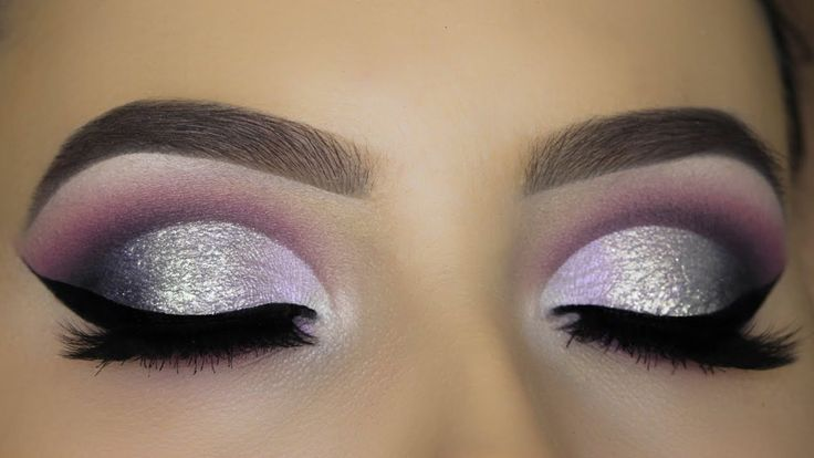 Purple Silver Glam Cut Crease Tutorial