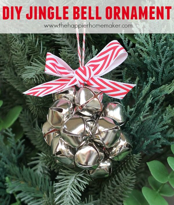 How to make this cute DIY Jingle Bell Ornament and over 100 DIY Christmas ornament ideas from popular bloggers