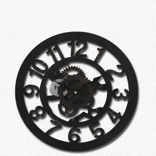 KLT Duvar Saati Çark Desenli 59 Cm