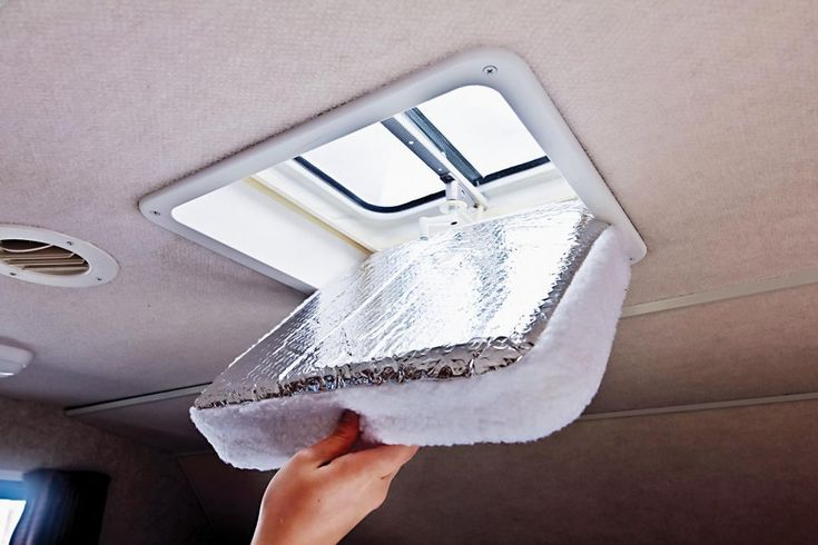 These vent insulators will keep your RV warmer during the winter and cooler during the summer.