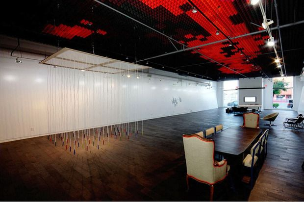 Visitors are in for a multi-sensory experience pulling ropes to play music at Sonos Studio